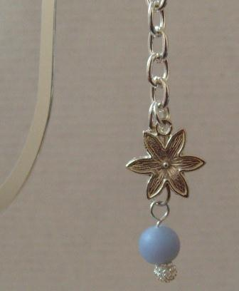 blue bead and flower